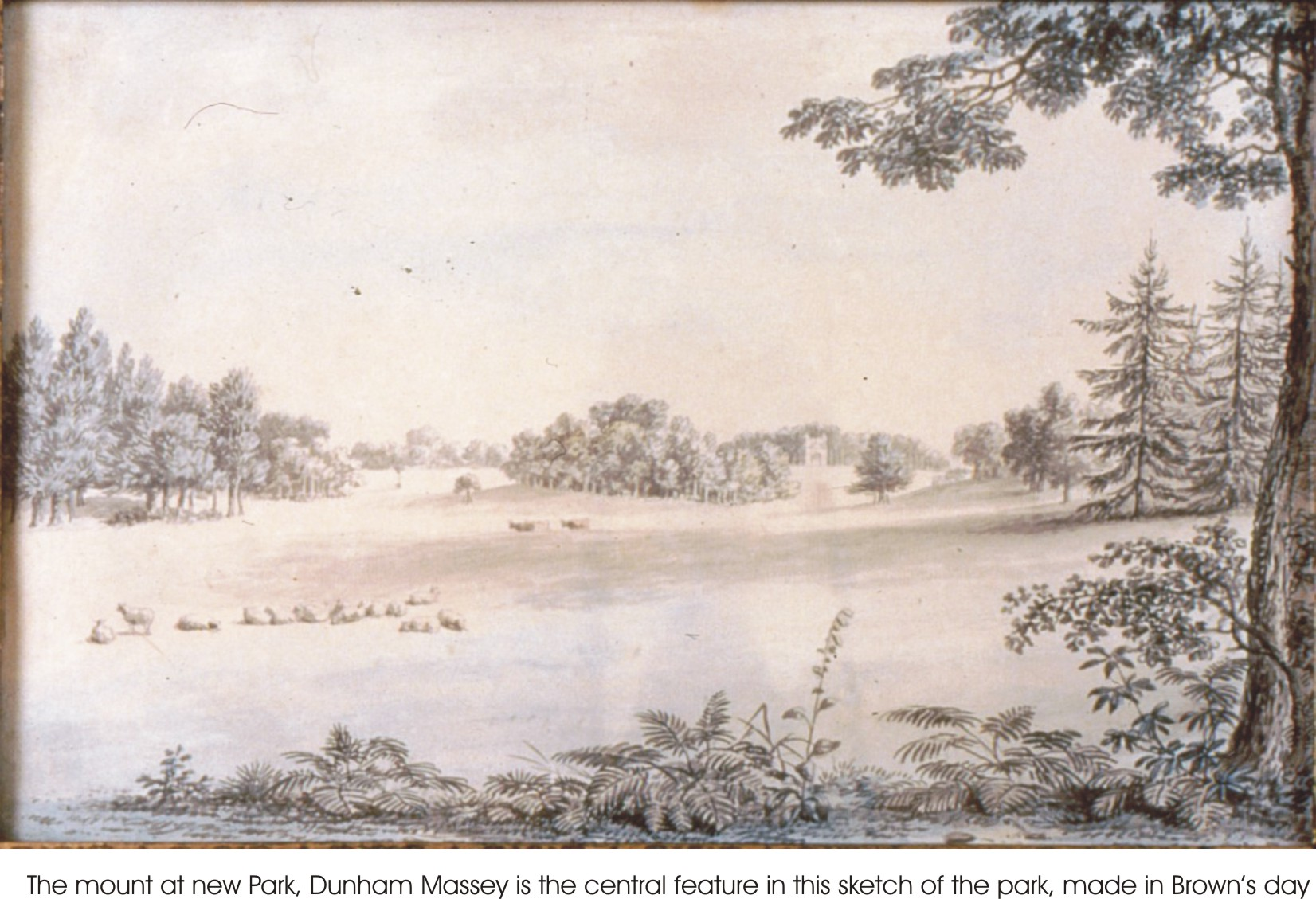 New Park, Dunham Massey, sketched in the late 18th century