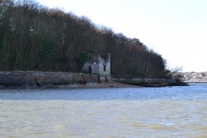The Bathing House was wrongly thought to stand on the footings of the old castle