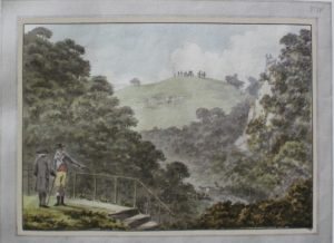 One might argue that the carriage that Repton painted on King's Weston Down from the mouth of the cave at Blaise could not have been Mrs Suckling's, because she was an invention of Jane Austen's - but is not the painting also an invention of Humphry's?